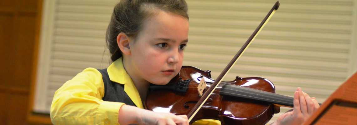 violin performance at coopersale hall