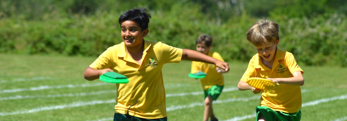 sports day races at Coopersale Hall