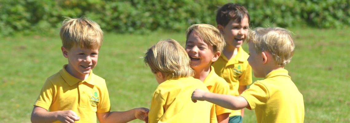 Pupils enjoying sports day