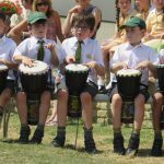 Puplis playing drums prep school Epping